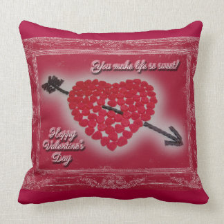 Valentine's Day - You Make Life So Sweet Throw Pillow