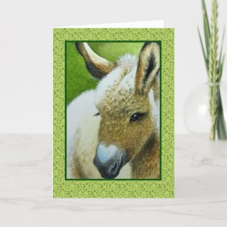 Valentines Hidden Heart Miniature Donkey Card