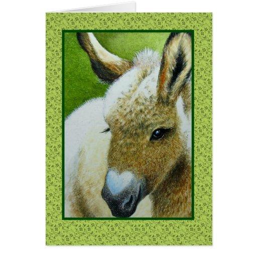 Valentines Donkey Greeting Card