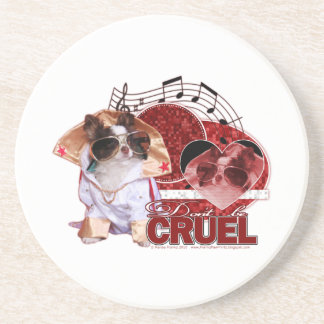 Valentines - Dont Be Cruel - Chihuahua - Gizmo Drink Coaster