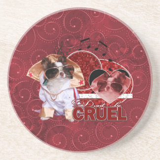 Valentines - Dont Be Cruel - Chihuahua - Gizmo Coasters