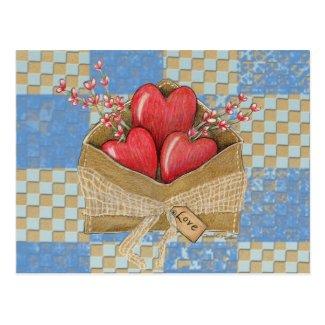 Valentine's Envelope Postcard