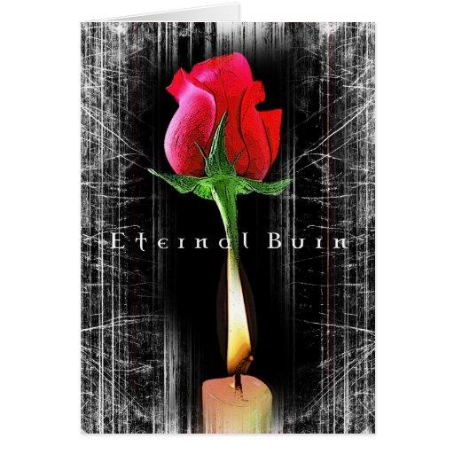 Valentines eternal burn card