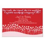 Valentine's First Birthday 3.5x5 Paper Invitation Card