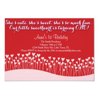Valentine's First Birthday Card