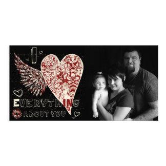 Valentines Fleur Heart Photocard Photo Card