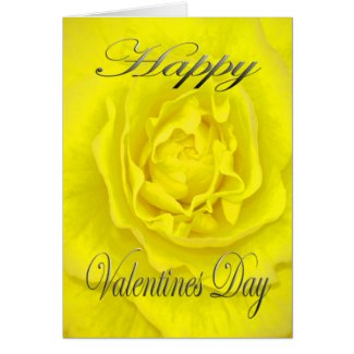Valentines Flower in Yellow Card