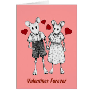 Valentines Forever: Grandma & Grampa: Mouse Couple Card