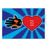 Hand shaped Valentine's Free Orca Love card