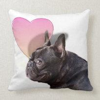 Valentine's French Bulldog American MoJo Pillows