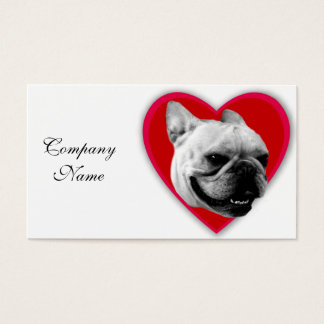 Valentine's French Bulldog Business Card