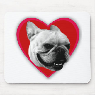 Valentine's French Bulldog Mouse Pad