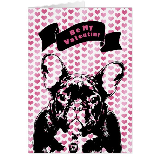 Valentines - french Bulldog Silhouette Card