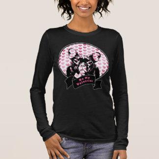 Valentines - french Bulldog Silhouette Long Sleeve T-Shirt