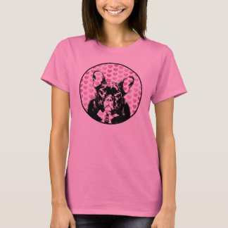 Valentines - french Bulldog Silhouette T-Shirt