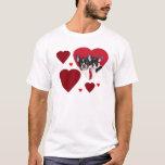 Valentine's french bulldogs T-Shirt