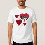 Valentine's french bulldogs tshirt