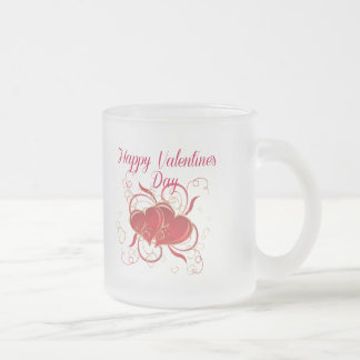 Valentine's Frosted Glass Coffee Mug