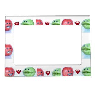 Valentines funny fruit magnetic frame