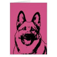 Valentines - German Shepherd Dog Silhouette Cards