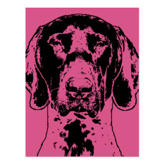 Valentines German Shorthair Pointer Dog Silhouette Postcards