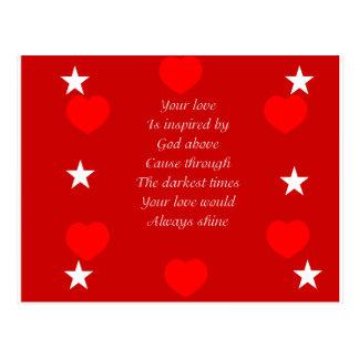 valentine's gift postcard