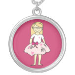 Valentines Girl Pendant Necklace
