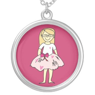 Valentines Girl Pendant Necklace