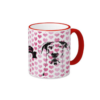 Valentines - Great Dane Silhouette - Baron Ringer Mug