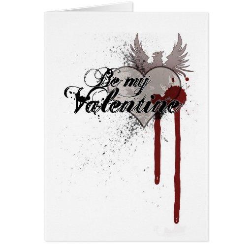 Valentine's Grunge Blood Splatter Greeting Card