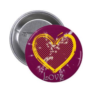 Valentine's Heart # 5 Button