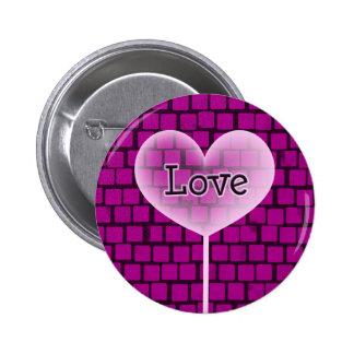 Valentine's Heart # 6 Button