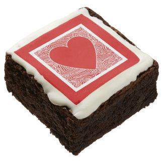 Valentines Heart Chocolate Brownie