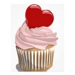 Valentines heart cupcake custom letterhead