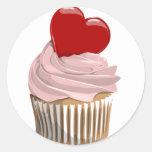 Valentines heart cupcake sticker