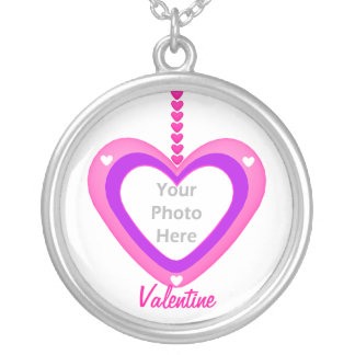 Valentines Heart Layers (photo frame) Silver Plated Necklace