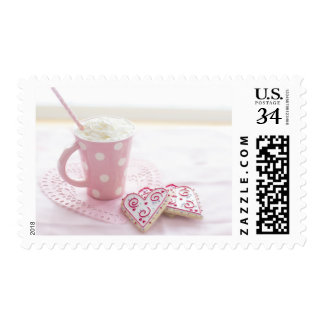 Valentine's Heart Love Cookies Hot Chocolate Postage