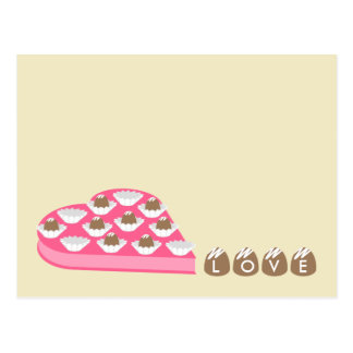 Valentine's Heart Shaped Box of Chocolate Candy Postcard