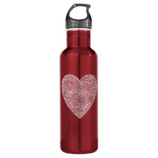 Valentines Heart Stainless Steel Water Bottle