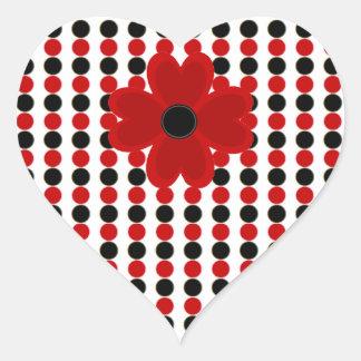 VALENTINES HEARTS AND POLKA DOT STICKER