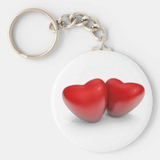 Valentine's hearts keychain