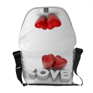 Valentine's hearts commuter bag