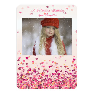 Valentine's Hearts Photo Invitation