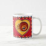 Hand shaped Valentine's Hedgehog mug