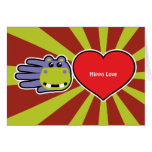 Hand shaped Valentine's Hippo Love card