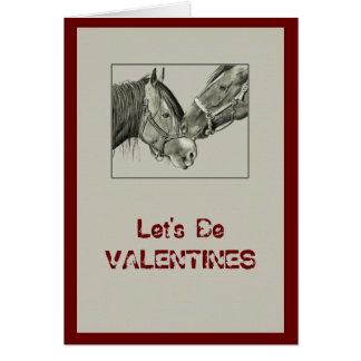 Valentines: Horses Nuzzling: Original Pencil Art Greeting Cards