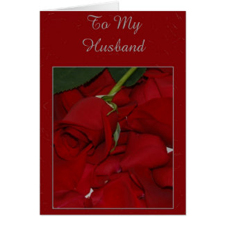 Valentines Husband Card