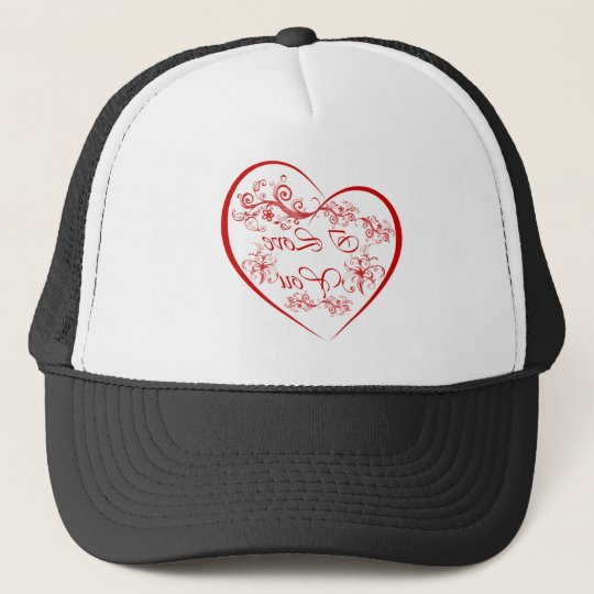 Valentine's I love you reflection gifts and tees. Trucker Hat