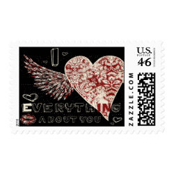 Valentines Illustrated Fleur Heart stamp
