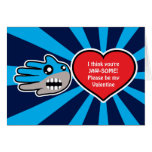 Hand shaped Valentine's Jawsome Shark card